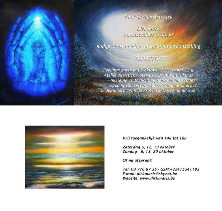 Uitnodiging tentoonstelling Reflectie